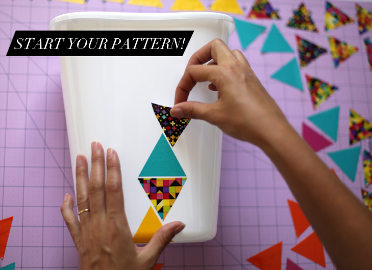 DIY Modern Triangle Trash Bin, DIY, @whatiwore