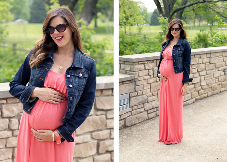 Summer Maternity, Maxi Dress, Pregnancy Style, @whatiwore