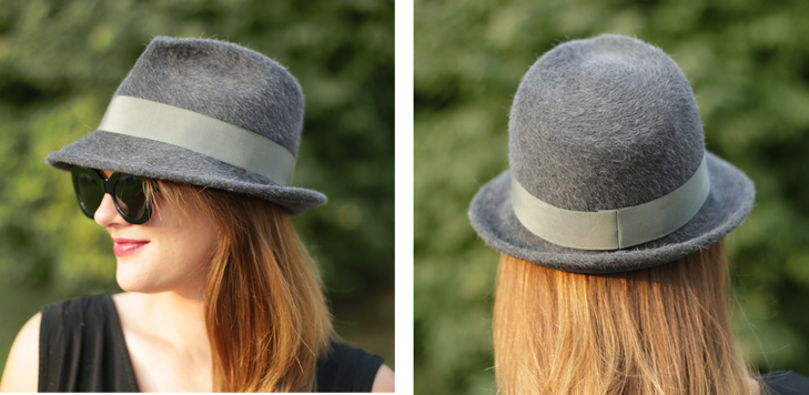 Salome Gray Fedora, Fedora, Self Made Fedora, Snap Brim, Millinery, Jessica Quirk, @whatiwore