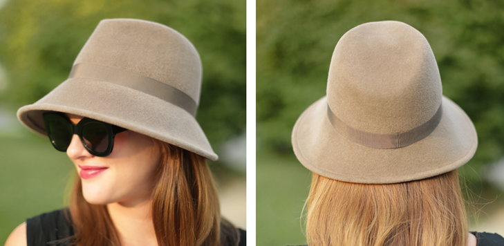 Rabbit Fur Felt Hat, Fedora, modern fedora, Jessica Quirk, Millinery