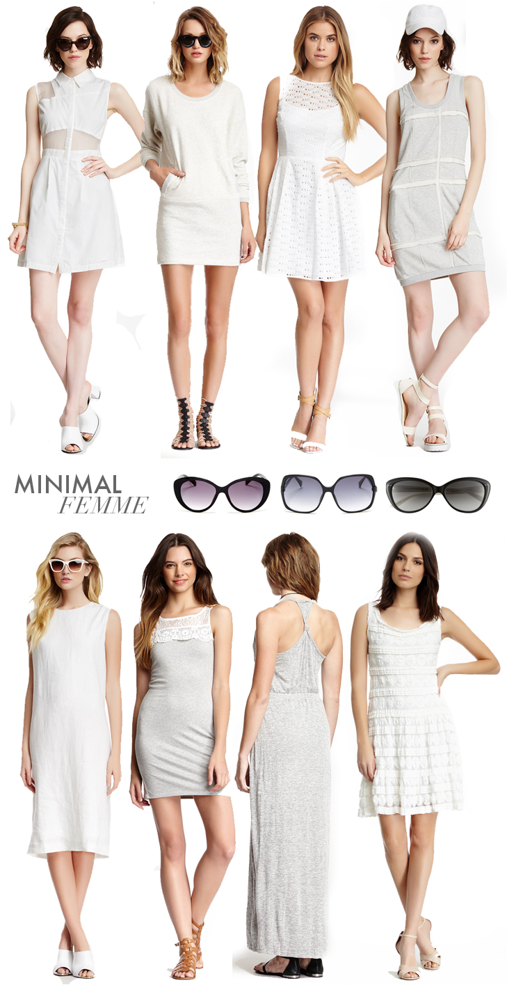 Minimal Femme, Minimal, Summer, White, Gray, @whatiwore