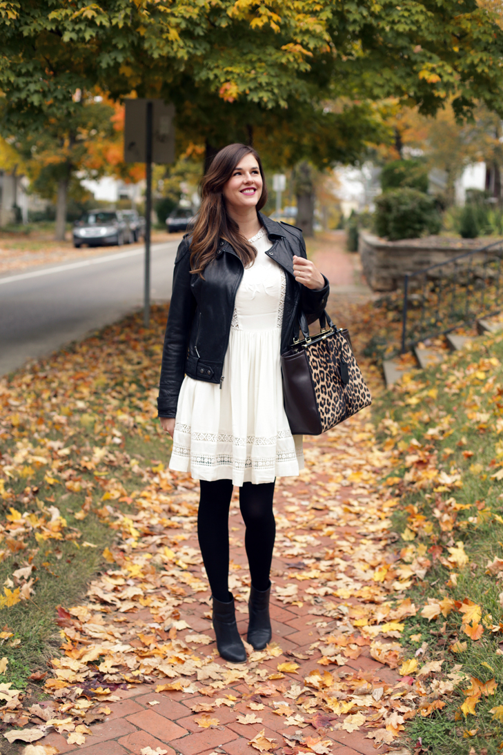 Black and White, Leopard Bag, White for Fall, Jessica Quirk