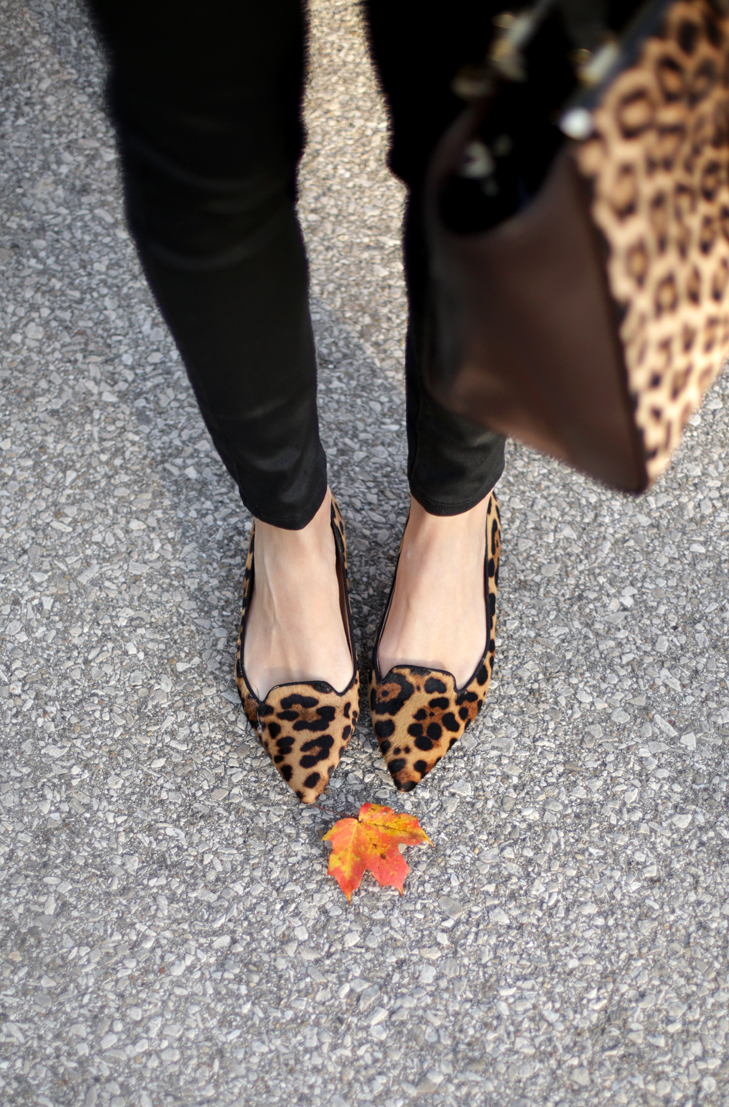Leopard Flats, Leopard accessories, Fall Outfit, Nursing friendly, BFing friendly, Jessica Quirk, What I Wore