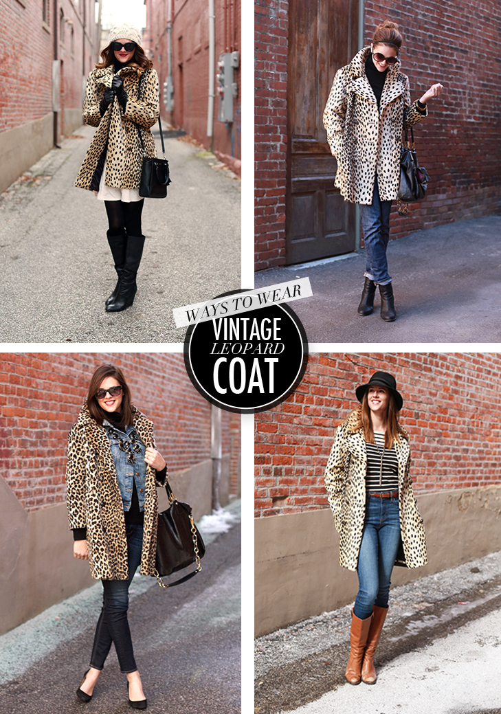 Four Ways to Wear a Leopard Coat, Leopard, Leopard Coat