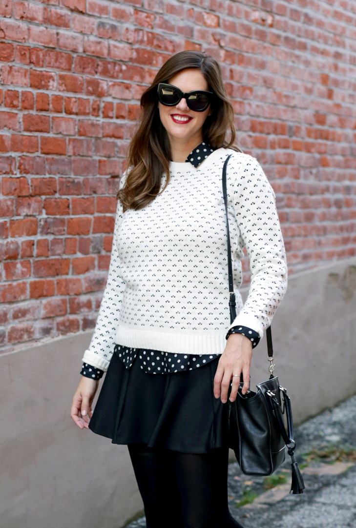 Black and White Outfit, Polka Dot, Nursing Friendly, Nursing, Jessica Quirk, Mama Style, Black and White,