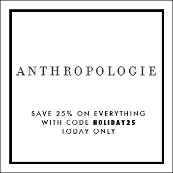 Anthropologie Black Friday Promo