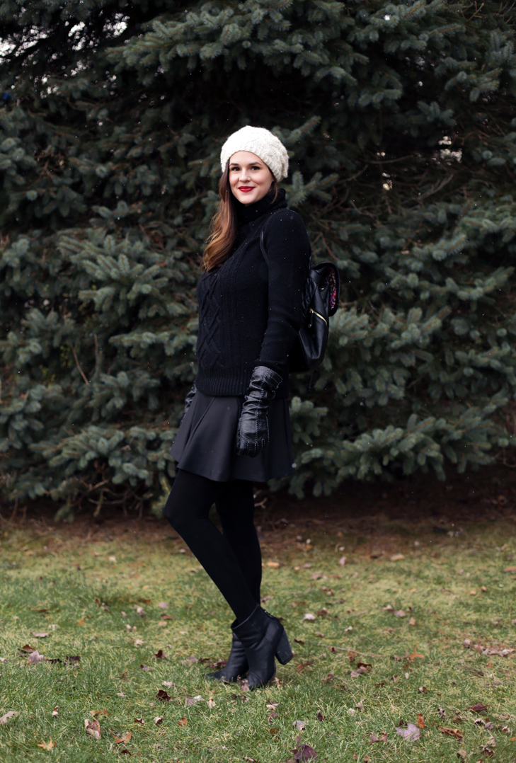 Holiday Outfit, Black Turtleneck, Nursing Outfit, Jessica Quirk
