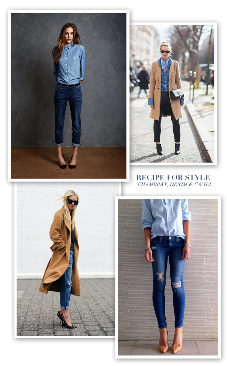 Recipe for Style | Chambray, Denim and Camel