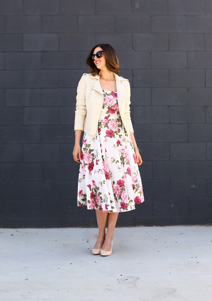 vintage modern outfit, how to wear a vintage dress