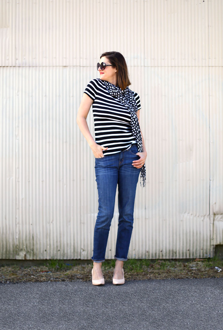 stripes, polka dots, easy outfit