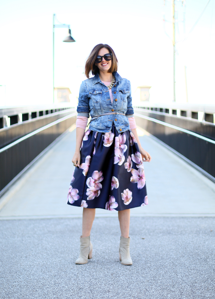 floral skirt, How to dress down a skirt
