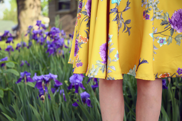 yellow Modcloth skirt, yellow skirt
