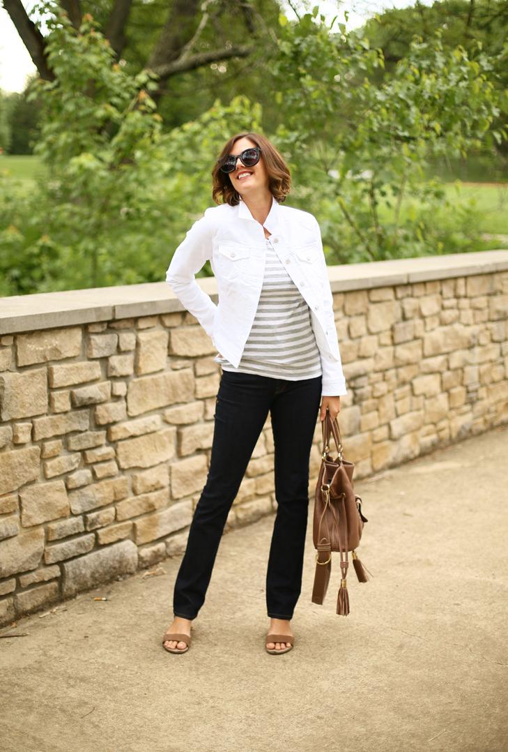 White Jean Jacket, imogene + willie jeans