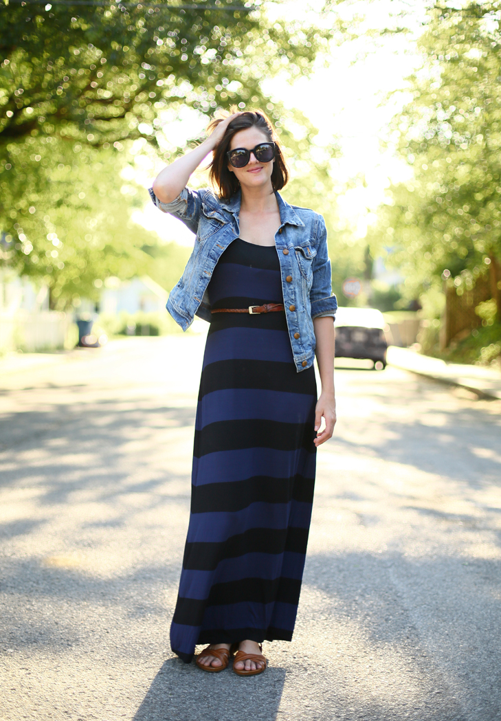 how to style a summer maxi dress