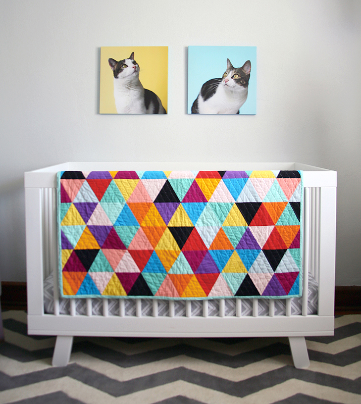 gender neutral nursery, rainbow nursery