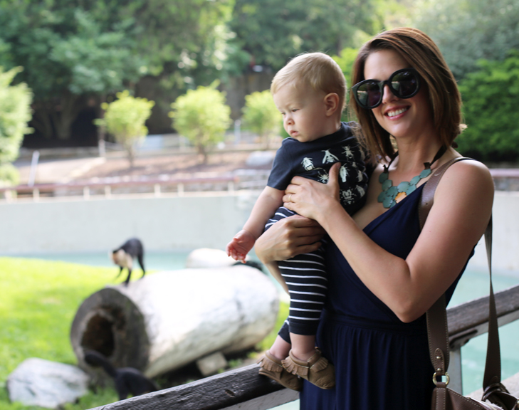 Jessica Quirk and her son Felix at the Fort Wayne Children's Zoo