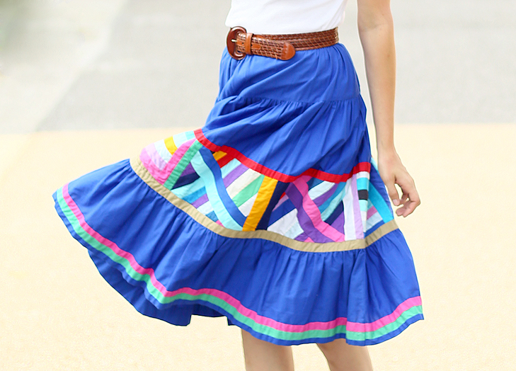 Jessica Quirk shows how to style a vintage patchwork skirt