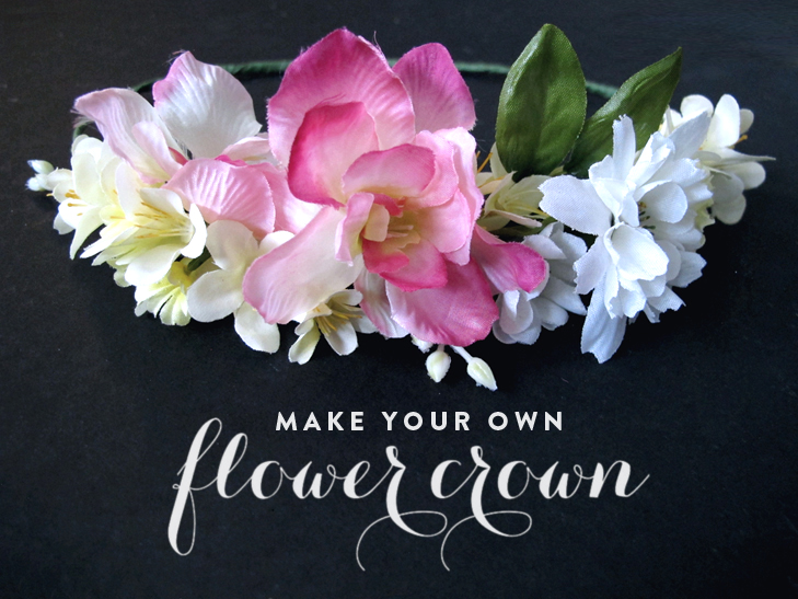 Flower Crown DIY, How to make a flower crown