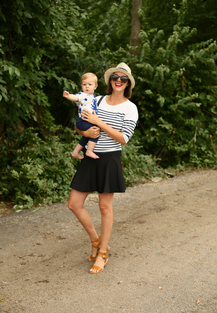 Jessica Quirk wears traditional Breton stripes on What I Wore