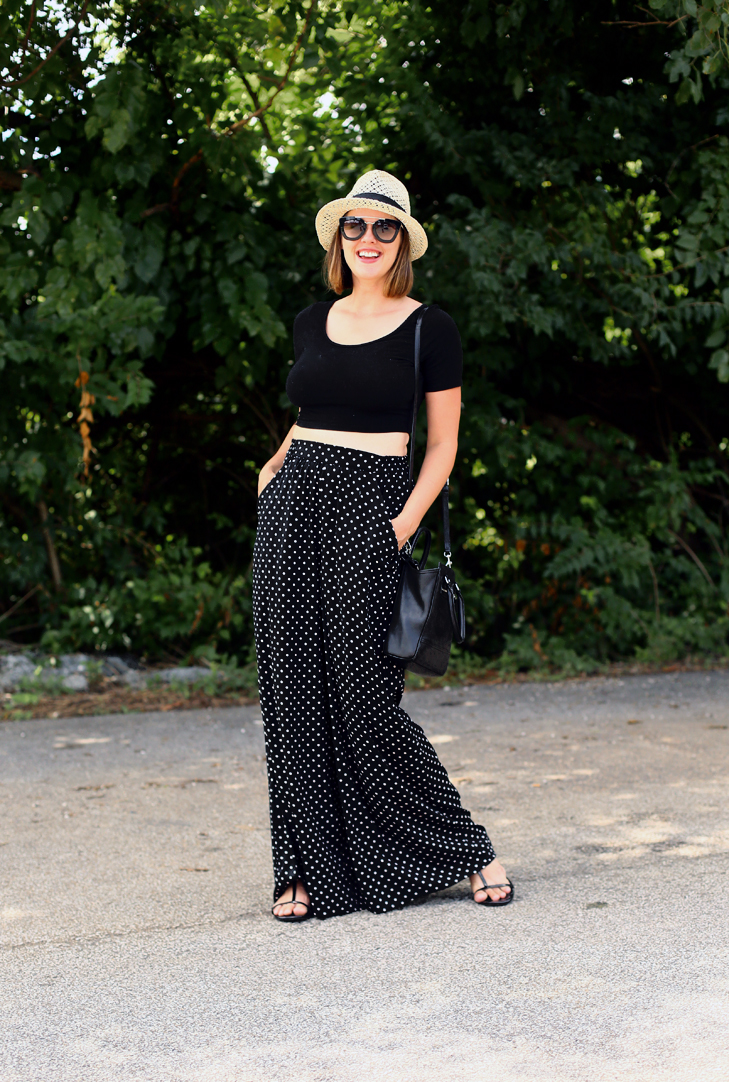 How to style a crop top with palazzo pants