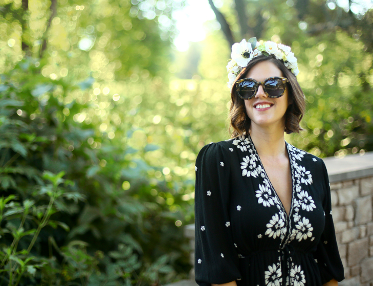 How To Wear a Flower Crown, Modern Hippie, Hippie Mama