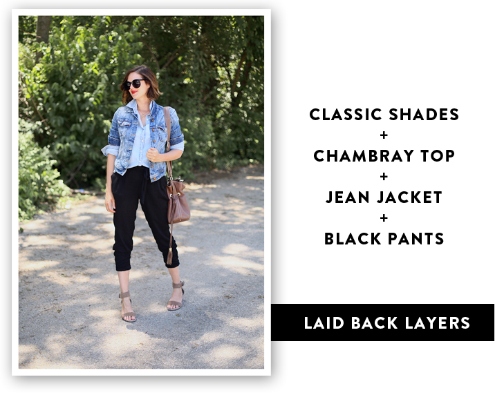 Chambray Outfit, How to wear a Jean Jacket