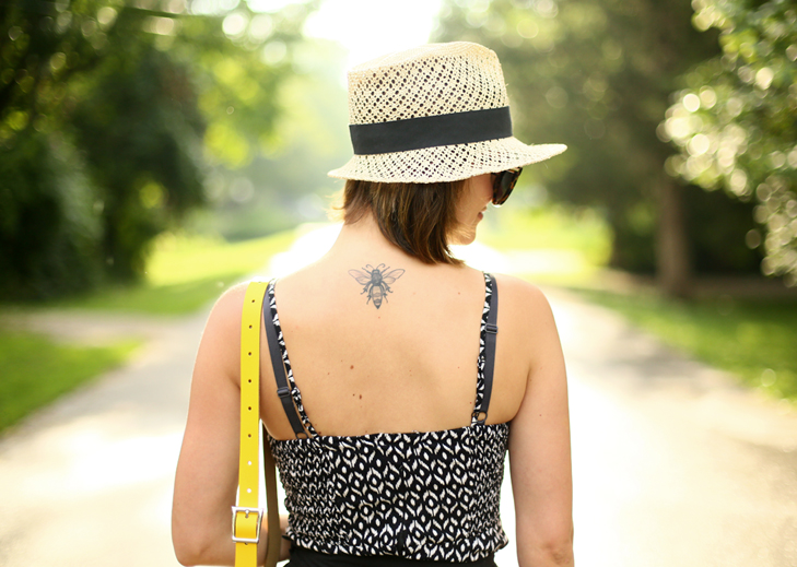 Summer Outfit, Summer Outfit Idea, Jessica Quirk, What I Wore, Bee Tattoo