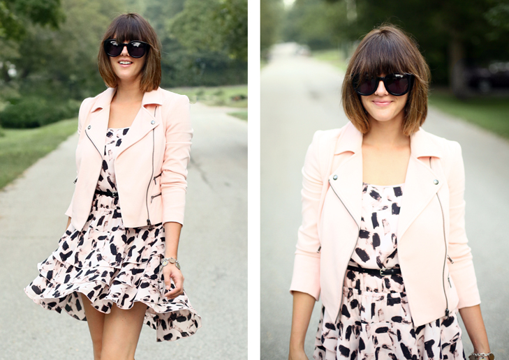 Pale Pink Moto, Half Moon Bangs, Jessica Quirk