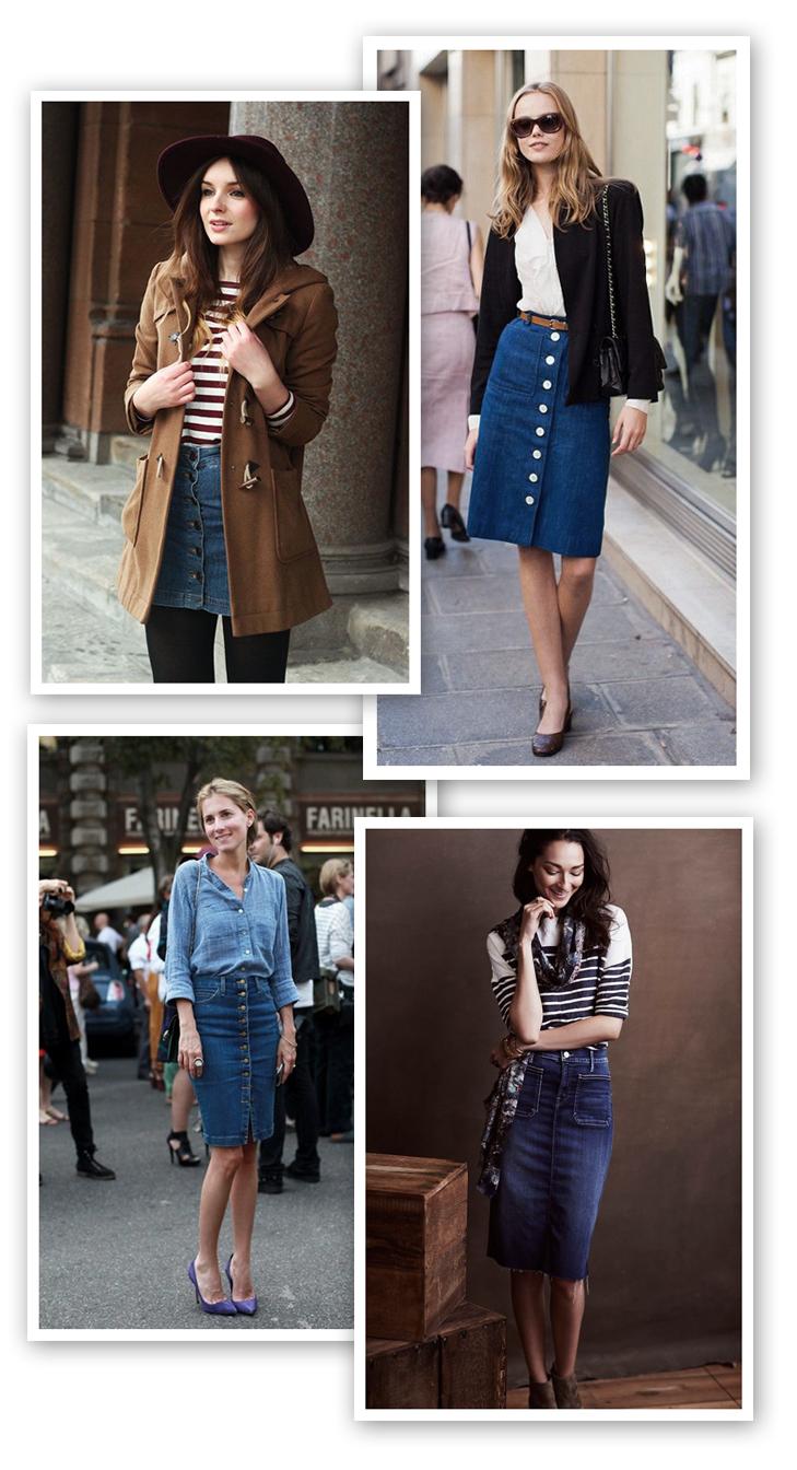 denim skirt, denim skirt inspiration, how to wear a denim skirt