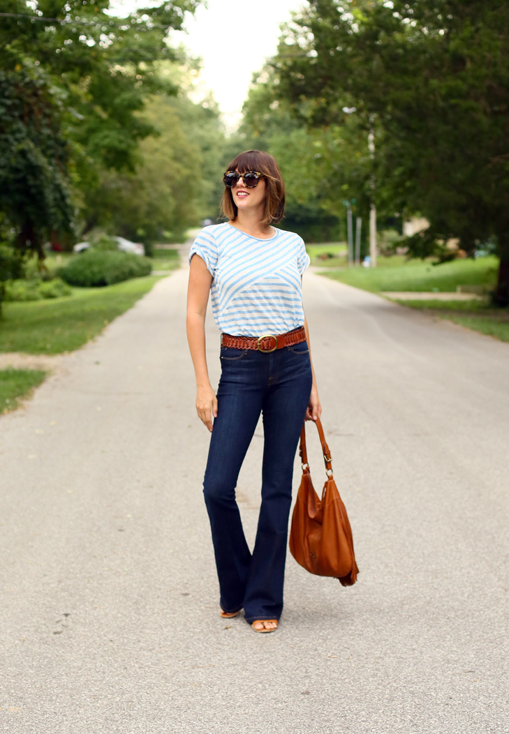 High Rise Flares, How to Wear Flare Jeans, Frame Denim Le Flare, Dark Flare Jeans