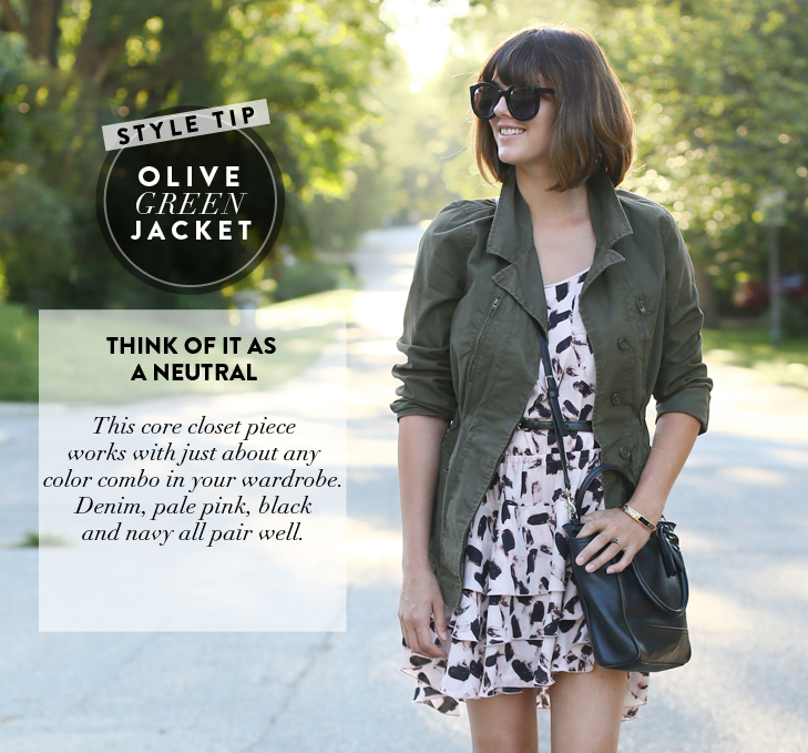 Olive Green Jacket, Fall Outfit Idea, Early Fall Outfit, What I Wore