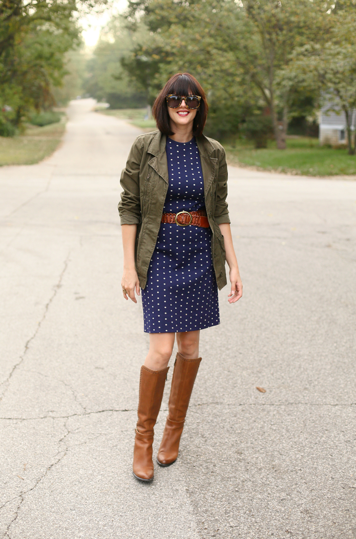 Fall Outfit, How to Style an Army Jacket. Ugg Boots