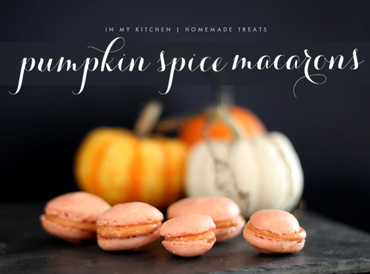 Pumpkin Spice Macarons, macarons