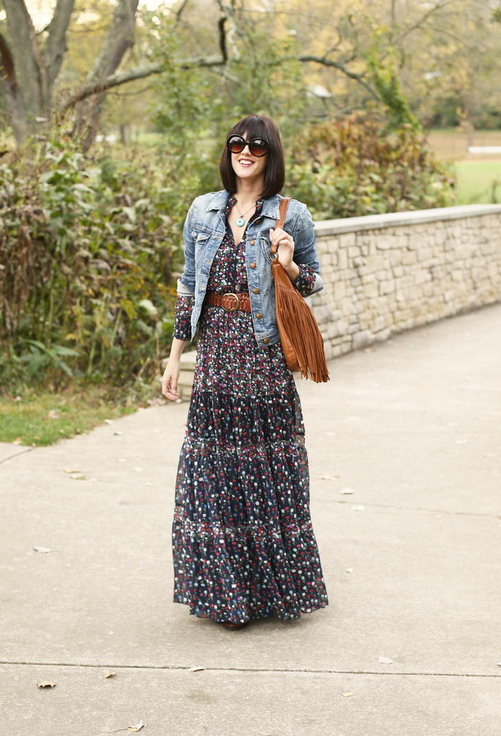 hippie chic, how to wear a denim jacket, 70s inspired