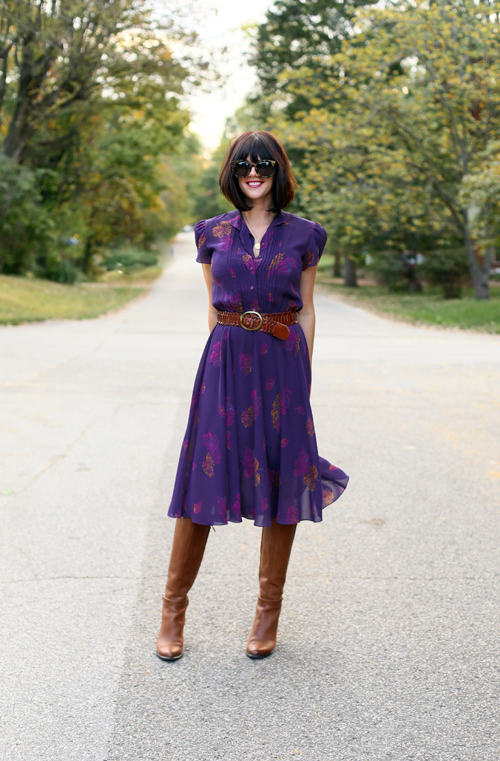 Fashion Blogger, Vintage Dress, Fall Outfit Idea