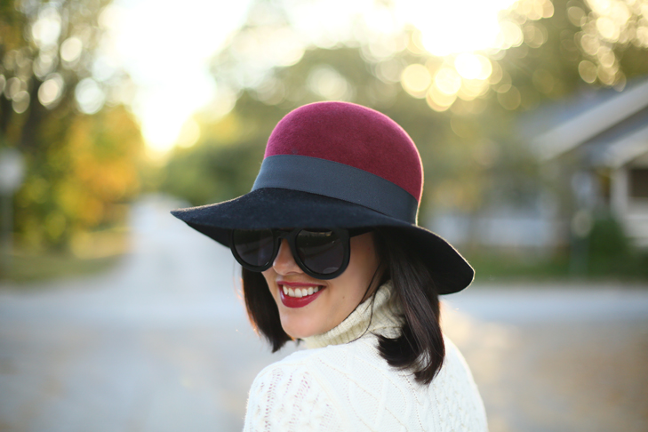 Over the Knee Boots, Two toned floppy hat, Fall Outfit, Rockport, Stars and Field