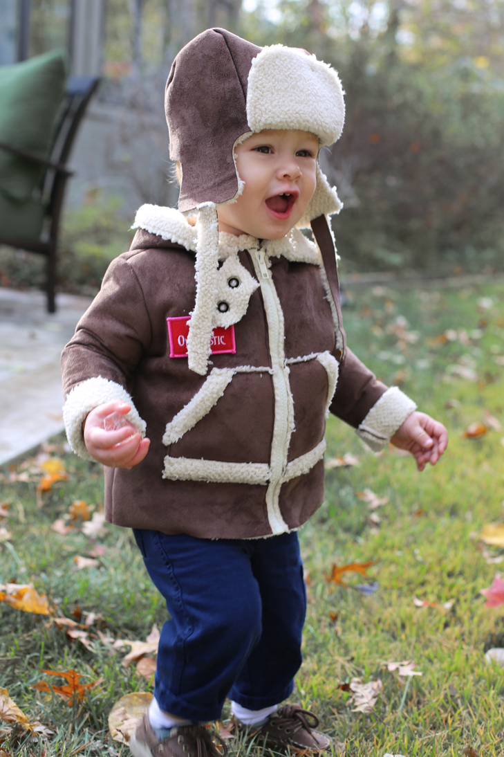Baby Halloween Costume, Baby Aviator, Aviator costume, homemade halloween for kids, kids halloween, kids costumes