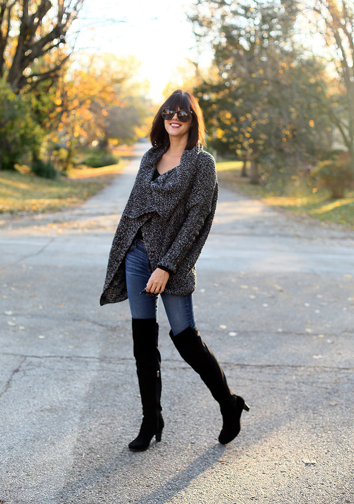 Oversized Sweater, How to wear Over the Knee Boots, Over the Knee Boots with Jeans