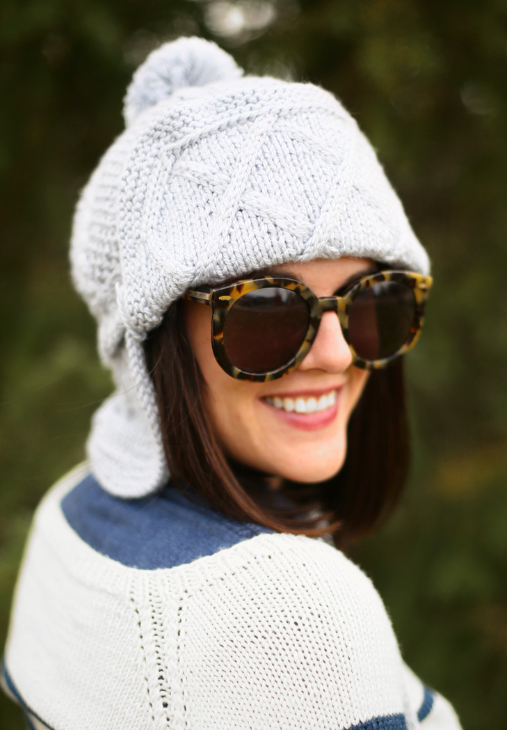 Knit And Purl Pattern : My DIY Cable Knit Trapper Hat on What I Wore