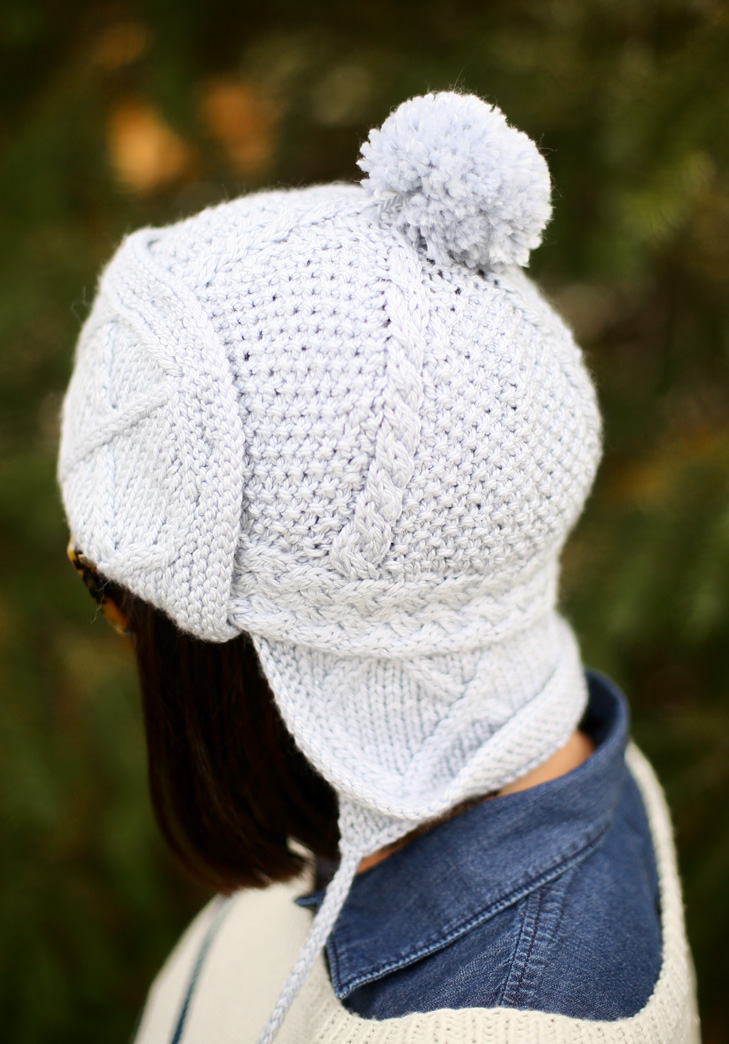 My DIY Cable Knit Trapper Hat on What I Wore
