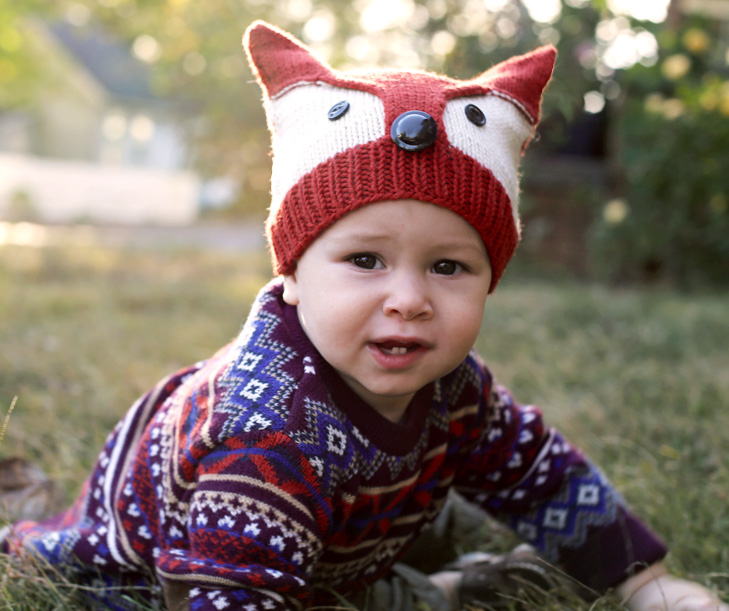 Fox Hat, Baby Fox Hat, Fox Knitting