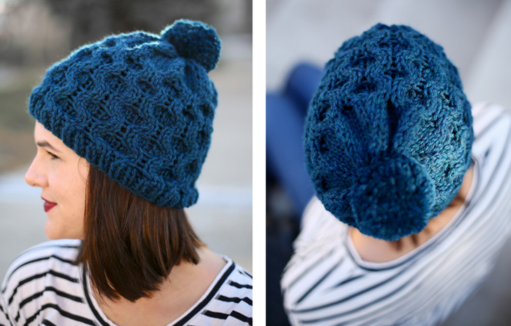 My Diy Honeycomb Cable Knit Hat Stars Field