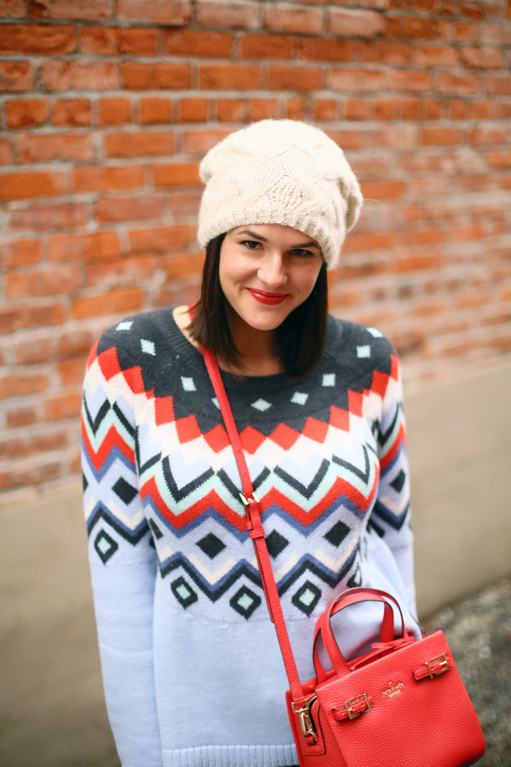 Fair Isle Sweater, December Outfit, Fair Isle Sweater, whatiwore.tumblr.com