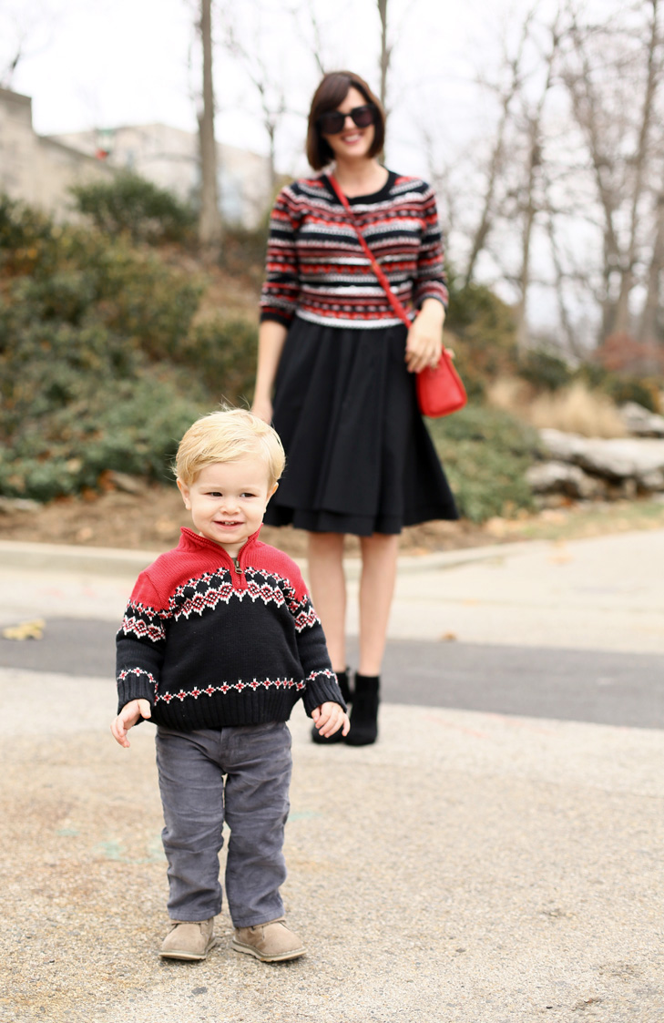Winter Outfit Idea, Christmas Outfit, Mom and Son Christmas Outfit Idea