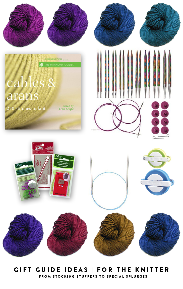 Gift Guide for Knitters, What to buy a knitter, supplies for a new knitter