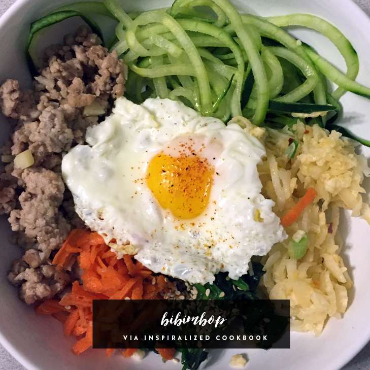 Bibimbop via Inspiralized Cookbook