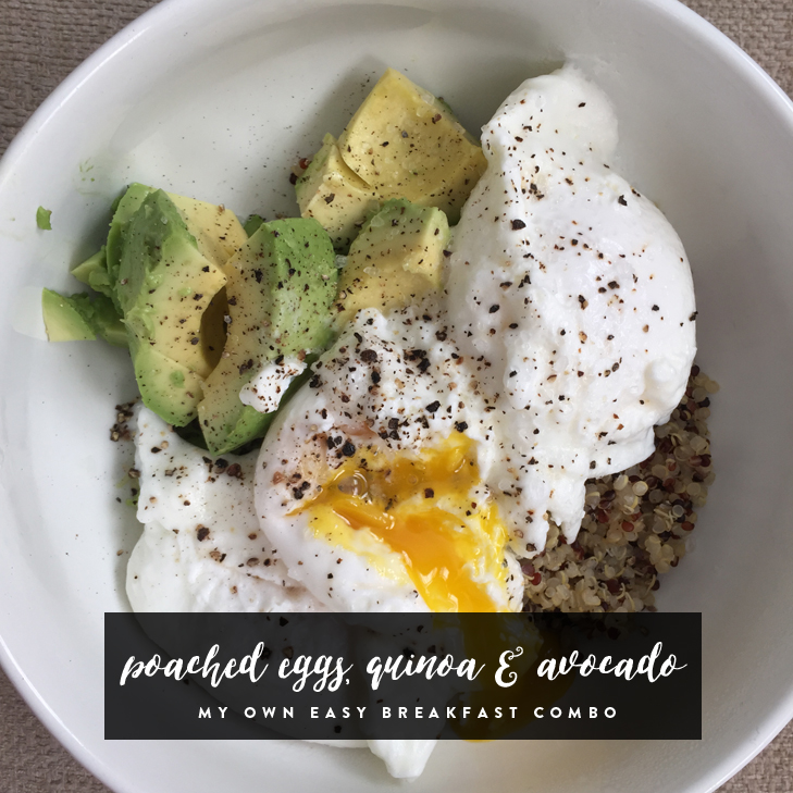 Poached Eggs with Quinoa and Avocado, Healthy Breakfast Idea