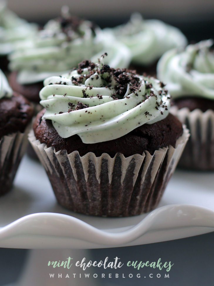 Mint Chocolate Cupcakes, Grasshopper Cupcakes, Andes Mint Cupcakes, Shamrock Cupcakes
