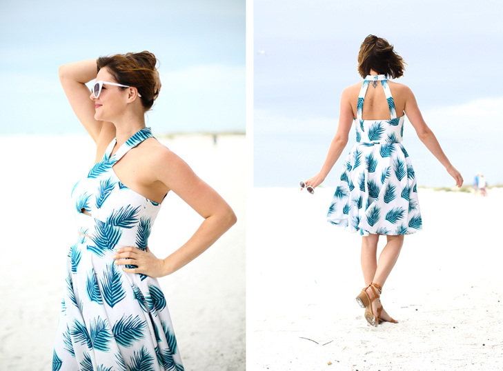 Palm Print Crop Top and Skirt, Simplicity 1371, Jessica Quirk