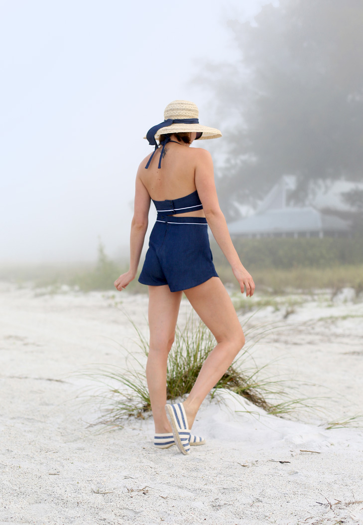 Stars and Field Hat, Self Made Playsuit, Simplicity 1426, Papercut Patterns Rite of Spring Short, Homemade Espadrilles